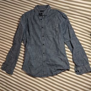 Banana Republic Chambray Shirt, Size Small
